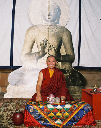 Rinpoche in Berlin 2010. Photo by Seseg Jigjitova.